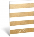 Calendar gold stripes